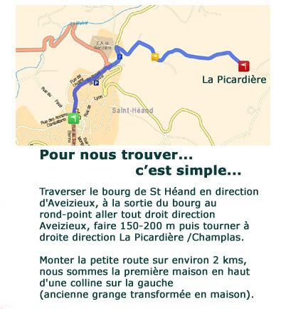 Plan d'accès A Pic Légumes St Héand